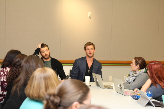Chris Evans and Chris Hemsworth Blogger Interview