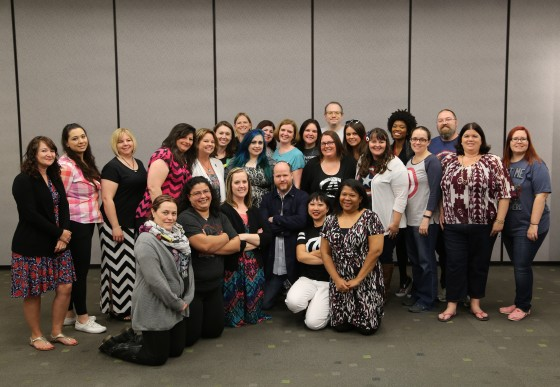 Joss Whedon Group shot - Like a Boss - Photo Credit - Disney