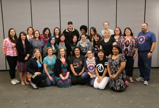 Kevin Feige with #AvengersEvent Bloggers - Photo Credit - Disney