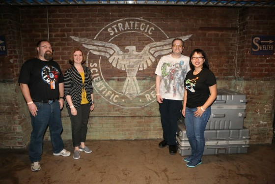 Me with Laura, Matt and TerriAnn by the SSR Sign