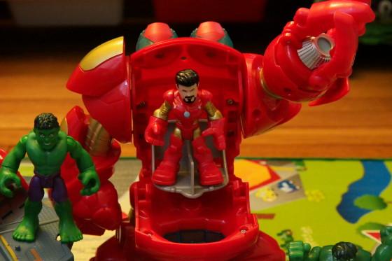 Tony Stark in the Hulkbuster Armor