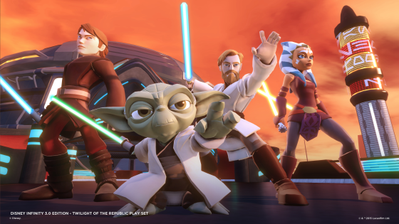 Disney Infinity 3.0 - Star Wars - Twilight Of The Republic Play Set -  GroupShot