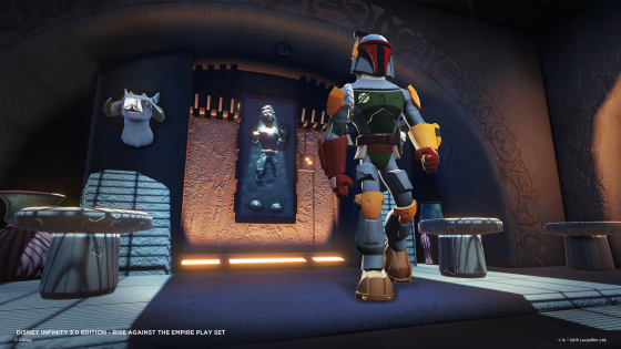 Boba Fett on Slave 1 in the Rise Against the Empire Play Set