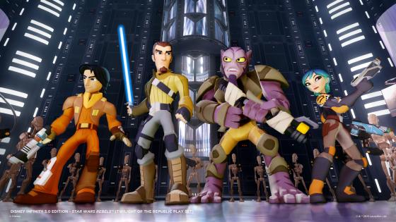 Star Wars Rebels, Ezra, Kanan, Zeb and Sabine in the Twilight of the Republic Play Set