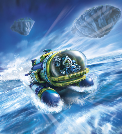 Skylanders SuperChargers - DiveBomber - Sea Type - Water Element - Vehicle Illustration