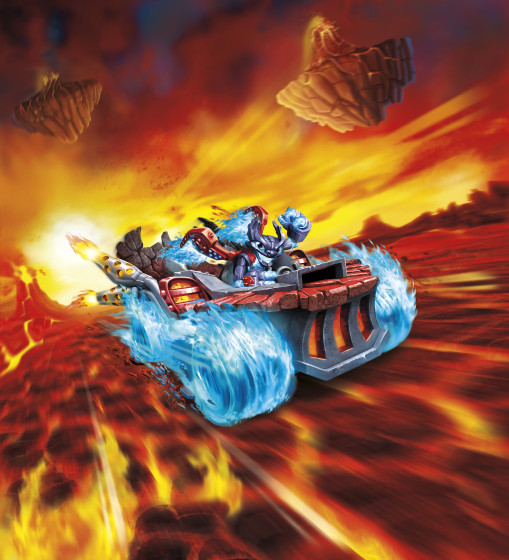 Skylanders SuperChargers - Hot Streak - Land Type - Fire Element - Vehicle illustration