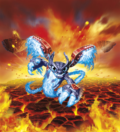 Skylanders SuperChargers- Spitfire - Fire Element SuperCharger Illustration