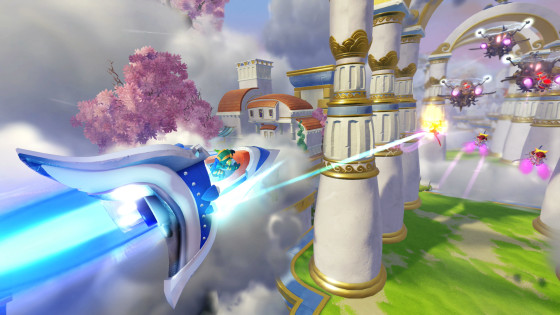 Skylanders SuperChargers - SkySlicer - Sky Type Air Element Vehicle - Screenshot with Stealth Elf