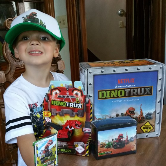 Andrew with DinoTrux Swag