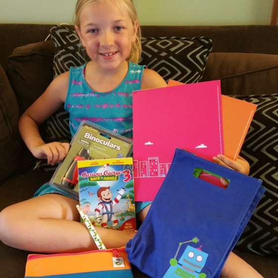 Eva with the Curious George 3 and PBS Kids Back to School