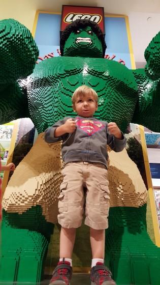 Andrew's Hulk Smash Impression with LEGO Hulk