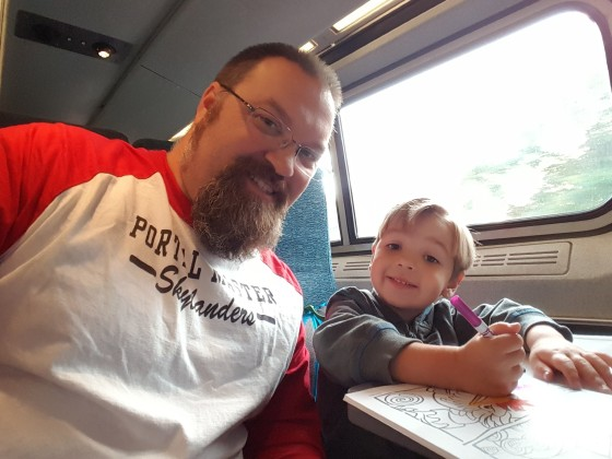 On the Train to New York City for Skylanders SuperChargers Playdate