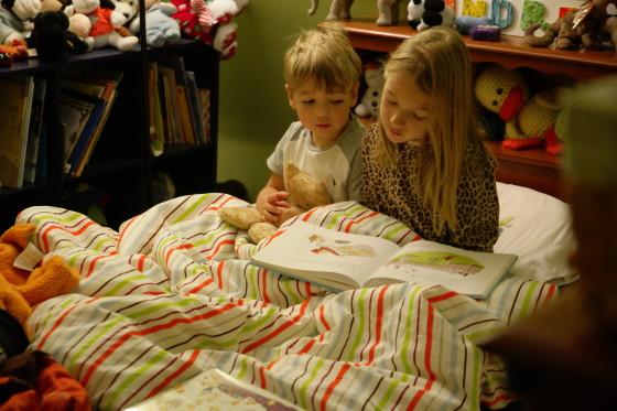 Eva Reading to Andrew