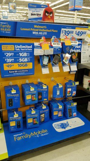 Walmart Family Mobile Angry for Savings Display