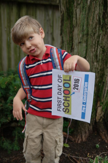 Andrew - First Day of School