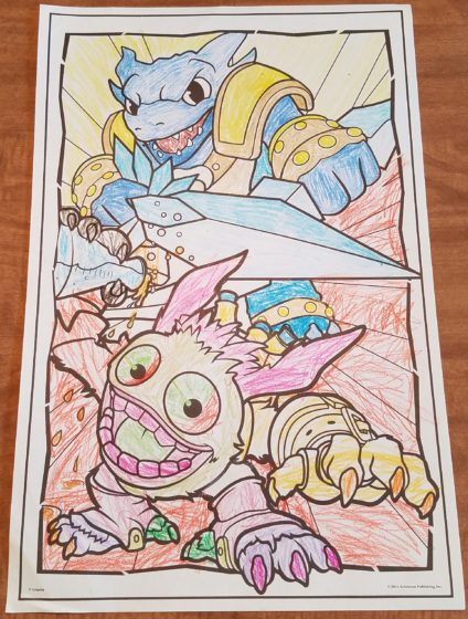 Skylanders Coloring With Andrew