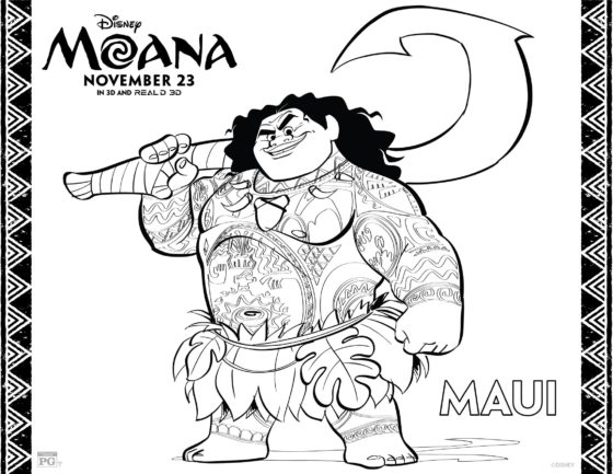 Maui Coloring Page
