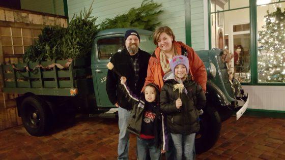 Family Photo at Edaville USA