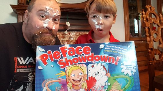 Pie Face Showdown - Father and Son
