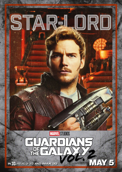 Guardians of the Galaxy Vol2 Star Lord Character Poster
