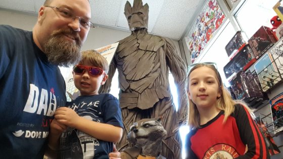 The Family with Groot and Rocket