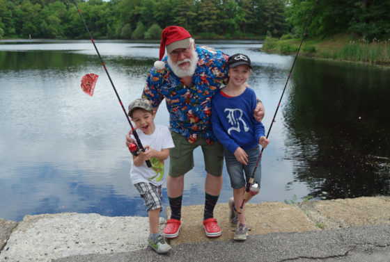 The kids with Summer Santa