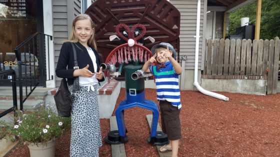 Eva and Andrew at Mac and Walts