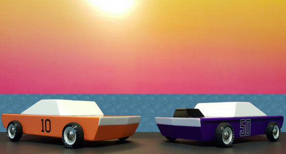 Candylab Toys Awesome Wood Cars Gt-10 and Plum50