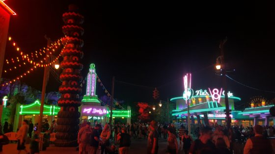 Cars Land at Night