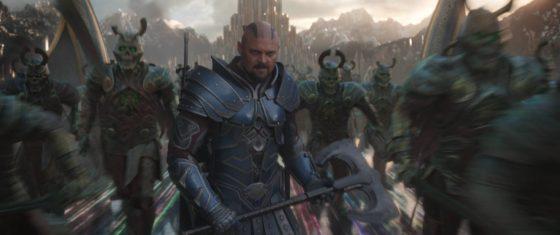 Karl Urban as Skurge with the Berserkers