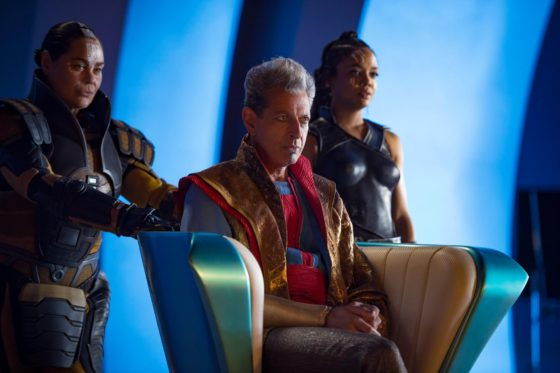 Rachel House - Topaz with Jeff Goldblum - Grandmaster and Tessa Thompson - Valkyrie