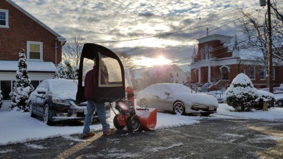 Snowblowing