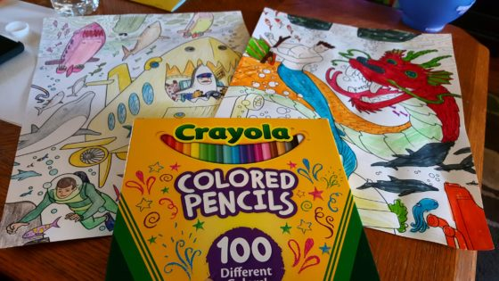 Crayola Family Escapes Group Coloring