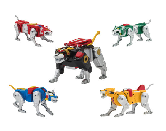 All Five Classic Voltron Lions