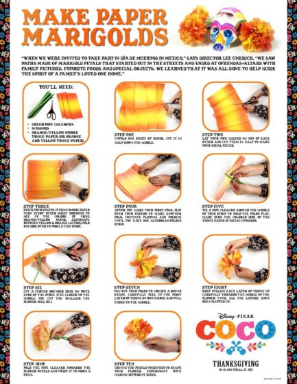 Coco Making Marigolds Activity Sheet
