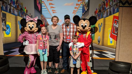 Meeting Mickey and Minnie Roadster Racers
