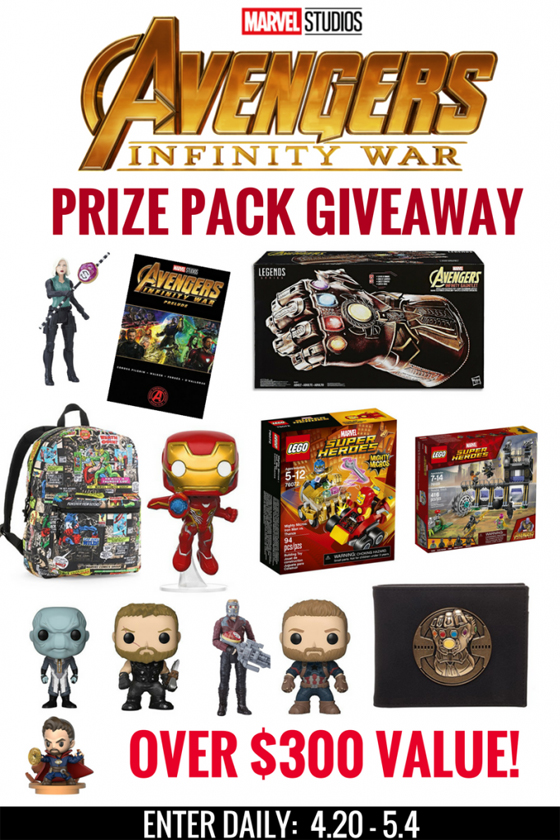 Avengers Infinity War 300 Dollar Prize Pack Giveaway
