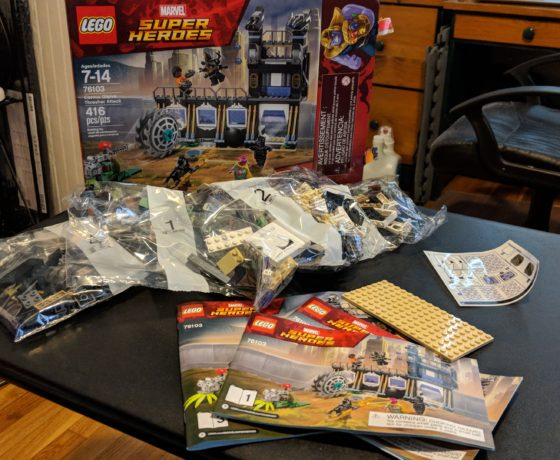 Some LEGO Building LEGO Marvel Super Heroes Corvus Glaive Thresher Attack