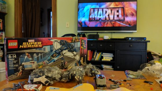 Marvel Avengers Age of Ultron Quinjet Battle