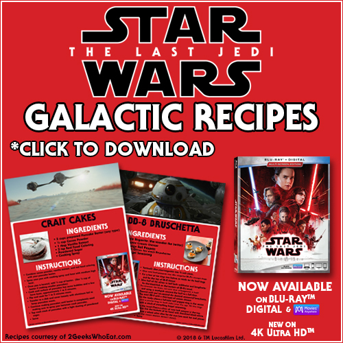 Star Wars The Last Jedi Recipes