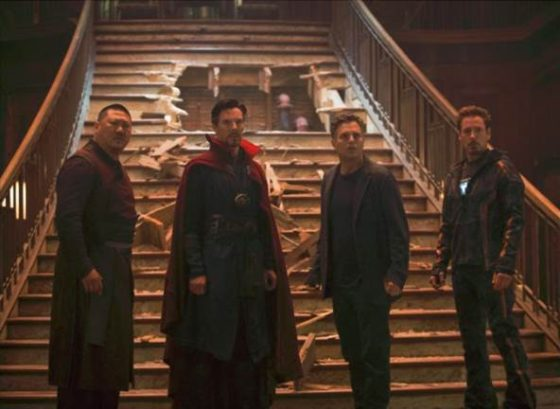 Assault on the Sanctum - Wong Doctor Strange Bruce Banner and Tony Stark
