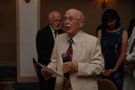Grandpa Bennett Giving the Blessing