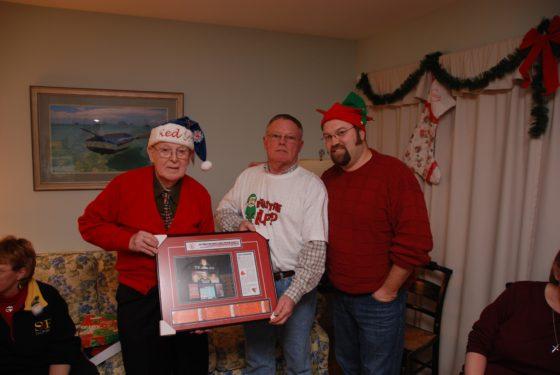 Celebrating Christmas with Grandpa Bennett 2010