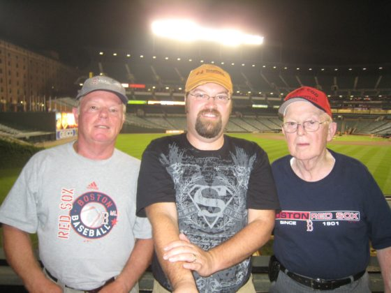 Visiting Camden Yards with Dad and Grandpa Bennett