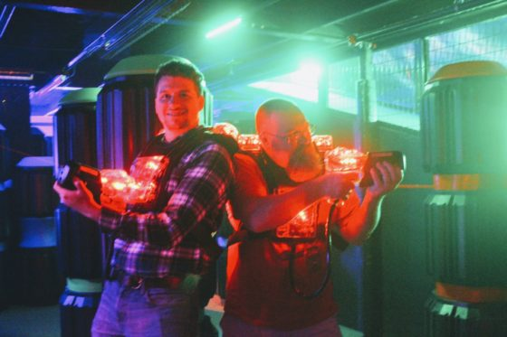 Teaming up with Chaz in Lasertron at XtremeCraze