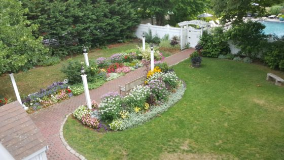 Our View of the Gardens at Daniel Webster Inn