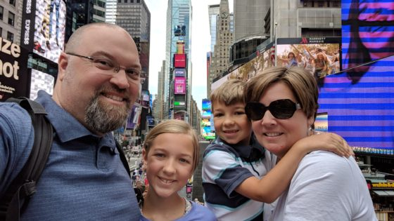 The Family in Times Square