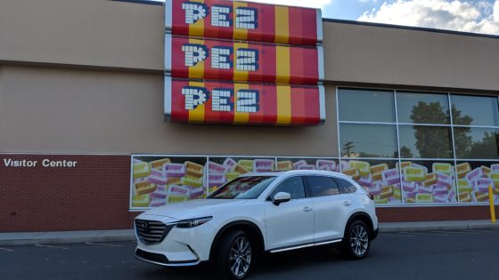 The Mazda CX9 at the Pez Factory Tour