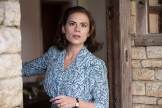 Hayley Atwell plays Evelyn Robin