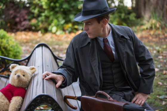 Christoper Robin with Winnie the Pooh on a Park Bench